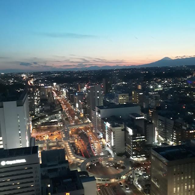 新横浜プリンスホテルからの横浜の夜景