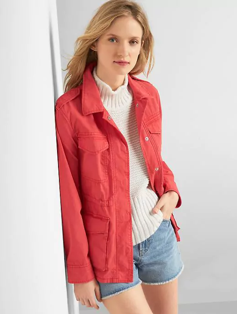 Gap: Utility Jacket only $27 (reg $98) + Free Shipping!