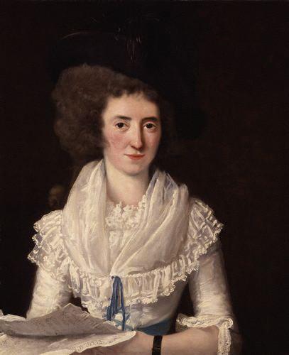 Portrait de la cantatrice Nancy Storace par Vandergucht