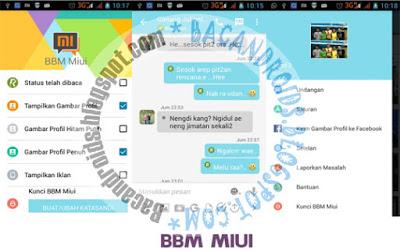 Download BBM MIUI Style Terbaru Apk