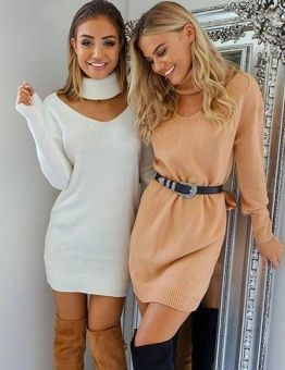 Women's Fall Knitted Sweater Dress