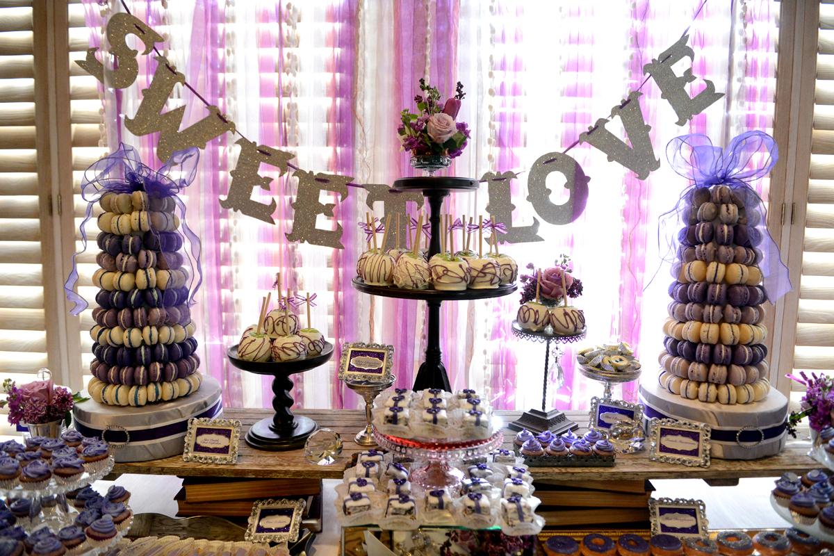 """Wedding Sweet Table Ideas: Le Petite Chef: Purple """"Sweet Love"""" Wedding Dessert Table"""