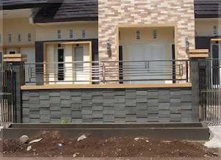 gambar pagar tembok minimalis batu alam