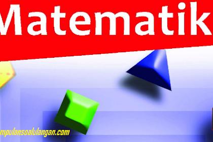 Soal PAS Kelas XI Matematika Wajib Semester Ganjil K 13