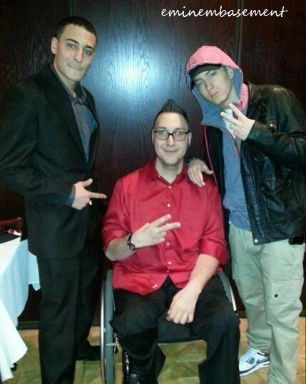 Eminem with his half brother Nate ~ Eminem Basement