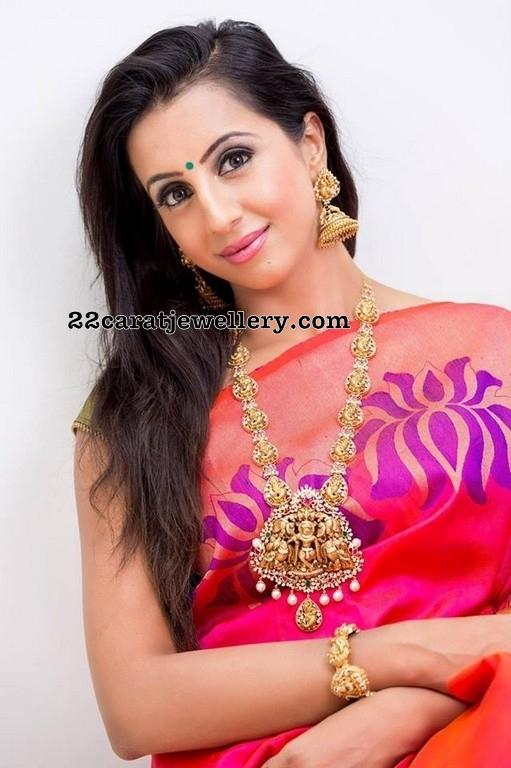 Sanjjanaa Galrani Nakshi Peacock Long Set