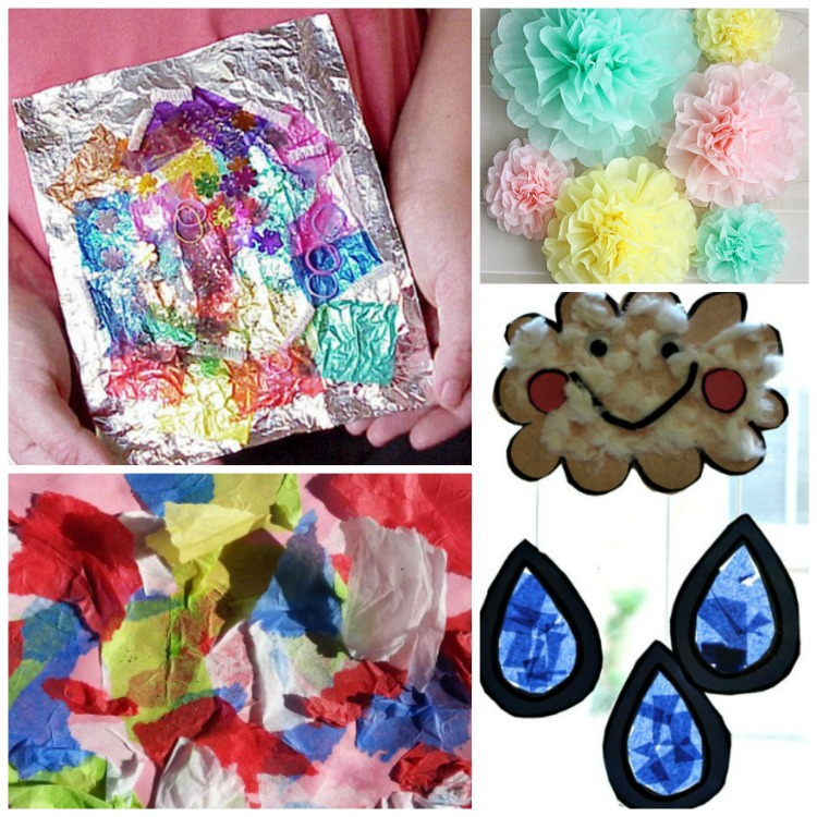 Beautiful Tissue Paper Crafts For Kids What Can We Do With Paper