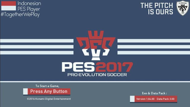 Indonesian PES Player Start Screen PES 2017