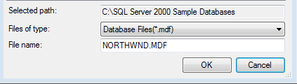 Attach Northwind database