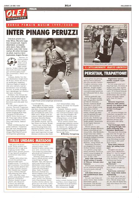 BURSA PEMAIN MUSIM 1999/2000 INTER PINANG PERUZZI