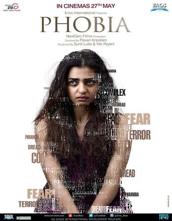 Poster Of Phobia 2016 Hindi 400MB DVDRip 720p ESubs HEVC Watch Online Free Download Worldfree4u