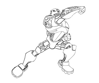 #10 Cyborg Coloring Page