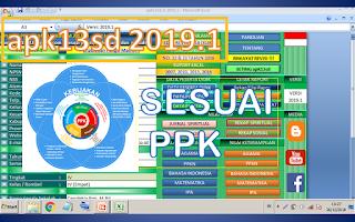 aplikasi rapor k13 sd apk13sd 2019 sesui ppk