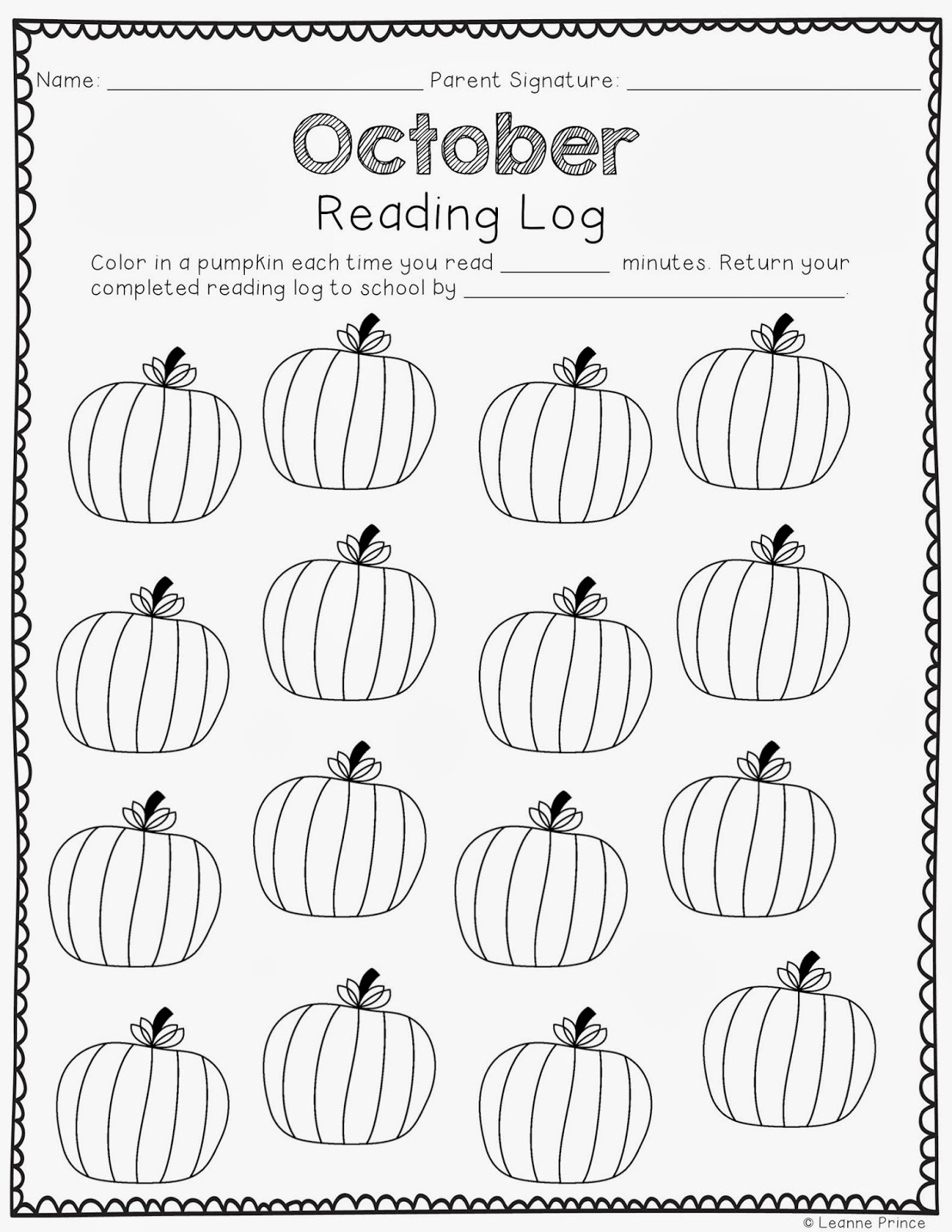 Mrs Prince And Co Monthly Reading Logs