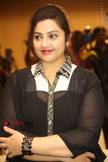 Tamil Actress Meena Latest Stills in Black Dress at TSR TV9 Awards Press Meet  0072.JPG