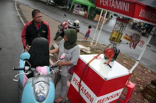 cara kerja alat penjual bensin eceran Pertamini