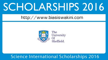 Science International Scholarships 2016