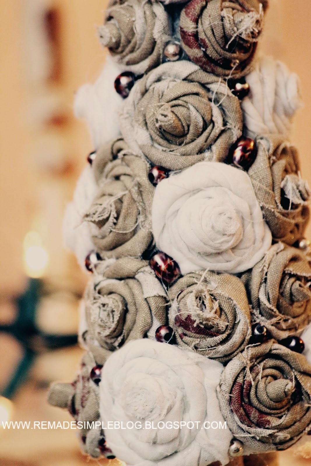 Mini Rosette Christmas Tree Diy