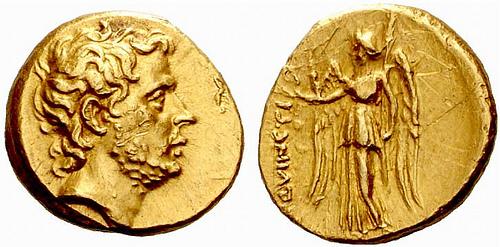 Quincio Flaminino primer romano retratado moneda