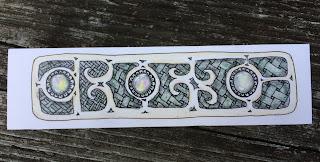 Handmade bookmark with zentangle gems