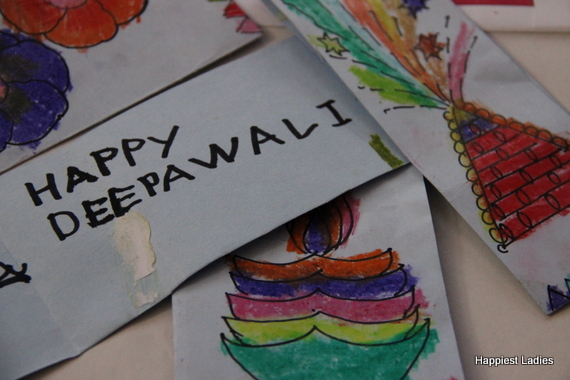 DIY Deepawali Greeting Cards