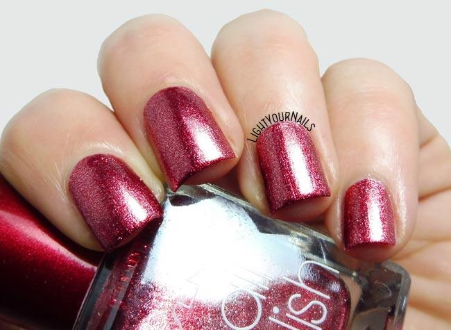 Smalto rosso Yesensy 1526 253 red foil nail polish