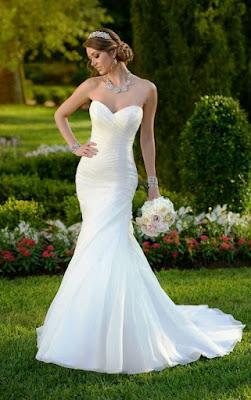 Model Gaun Pengantin Modern Tanpa Lengan Tampak Elegan
