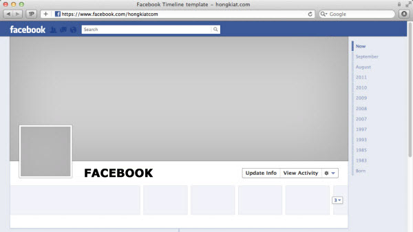 Facebook timeline cover page templates download facebook for Facebook page design template free