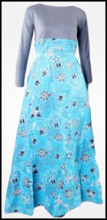 Model Long Dress Batik Modern Formal Dan Trendy