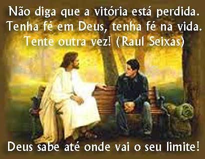Deus sempre sabe o nosso limite