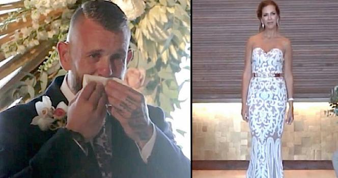 Ο γαμπρός δεν κατάλαβε γιατί η νύφη στάθηκε ακίνητη. Μόλις όμως την είδε να σηκώνει το χέρι της, έμεινε άναυδος