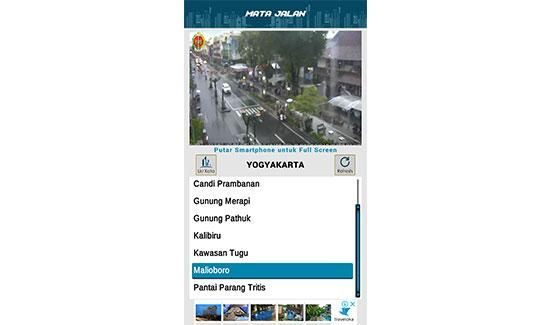 Aplikasi CCTV pantau lalu lintas jalan