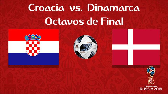 Croacia vs. Dinamarca - En Vivo - Online - Octavos de Final - Rusia 2018