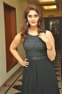 Actress Surabhi Stills in Black Long Dress at turodu Audio Launch  0002.JPG