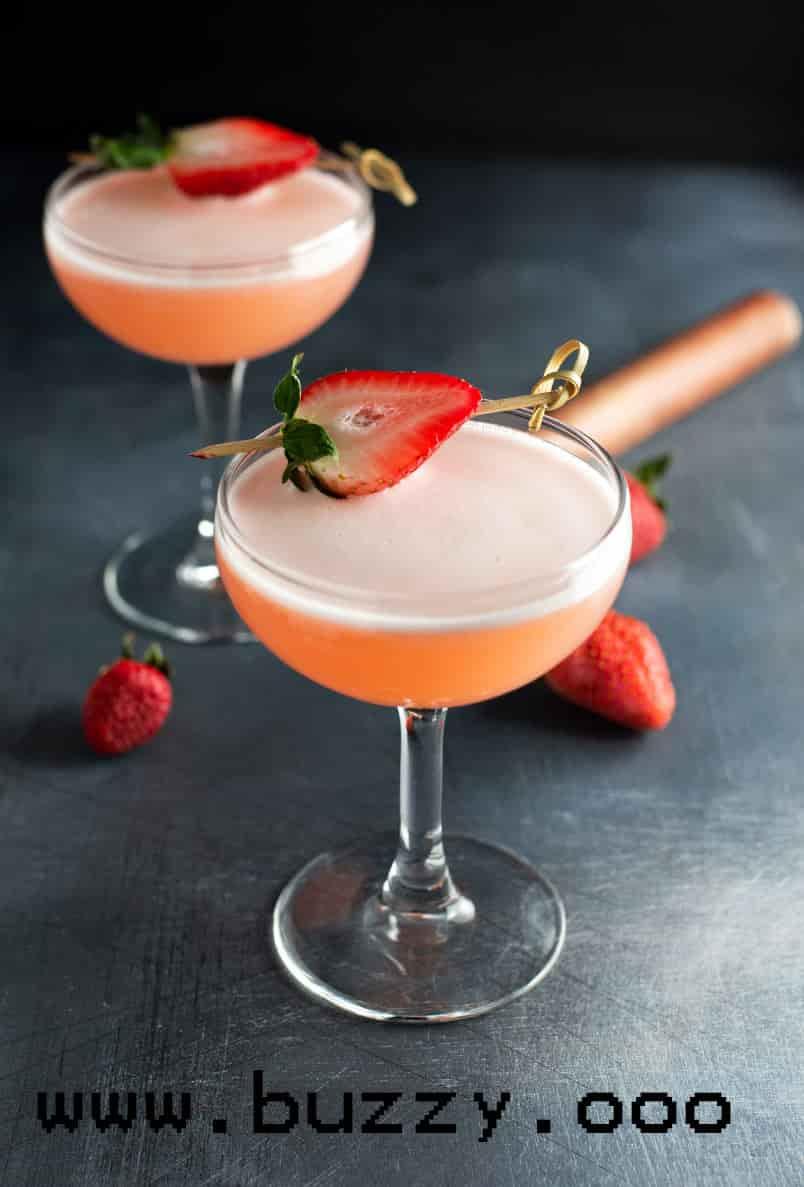 Strawberry Cucumber Tequila Martini Recipe