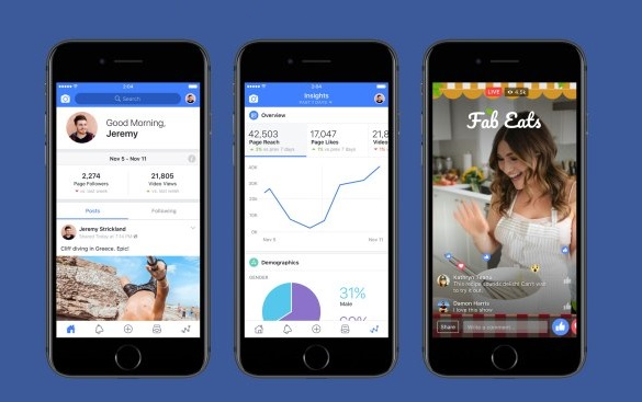 Facebook releases Creator app for iOS, Android version on the way