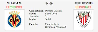 Villarreal vs Athletic de Bilbao en VIVO