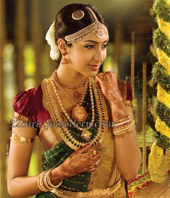 South Indian Bride With Traditional Wedding Jewelry Jewellery