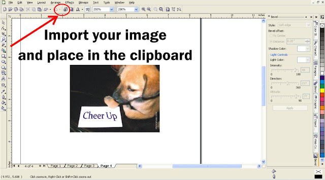image clipboard, page curl