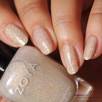 Nail polish swatches and review of Brighton from the Zoya Bridal Bliss collection