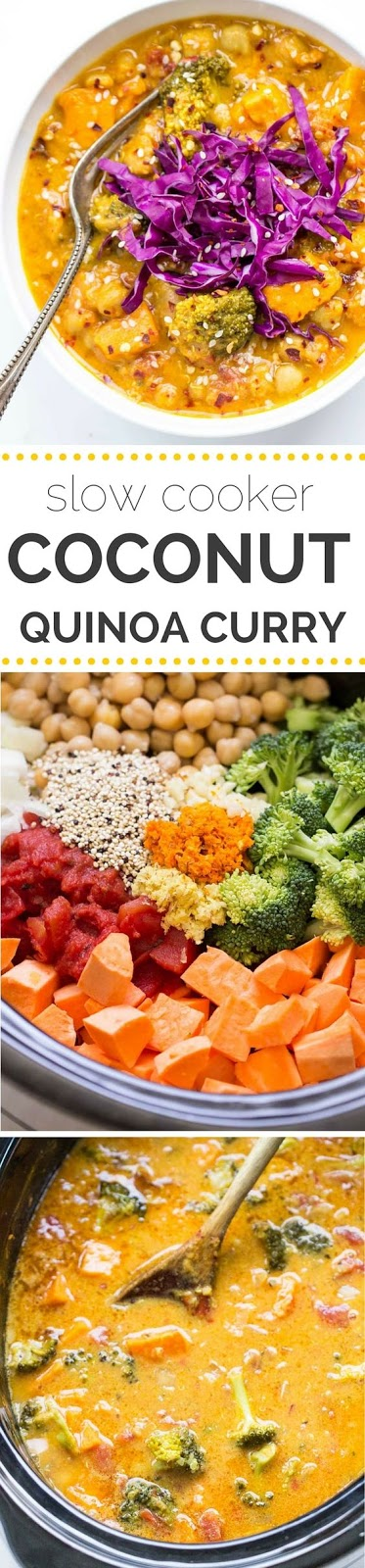 ★★★★☆ 4390 ratings      | Slow Cooker Coconut Quinoa Curry #Slow #Cooker #Coconut #Quinoa #Curry
