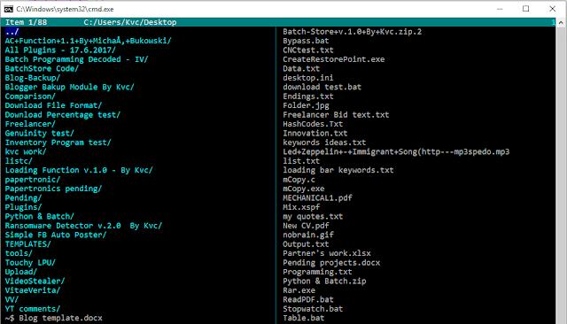 [Batch App] ListC   A Fully-Working GUI File Explorer in Batch   By Misol101