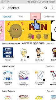 Langkah 3 Cara Download Stiker BBM Gratis