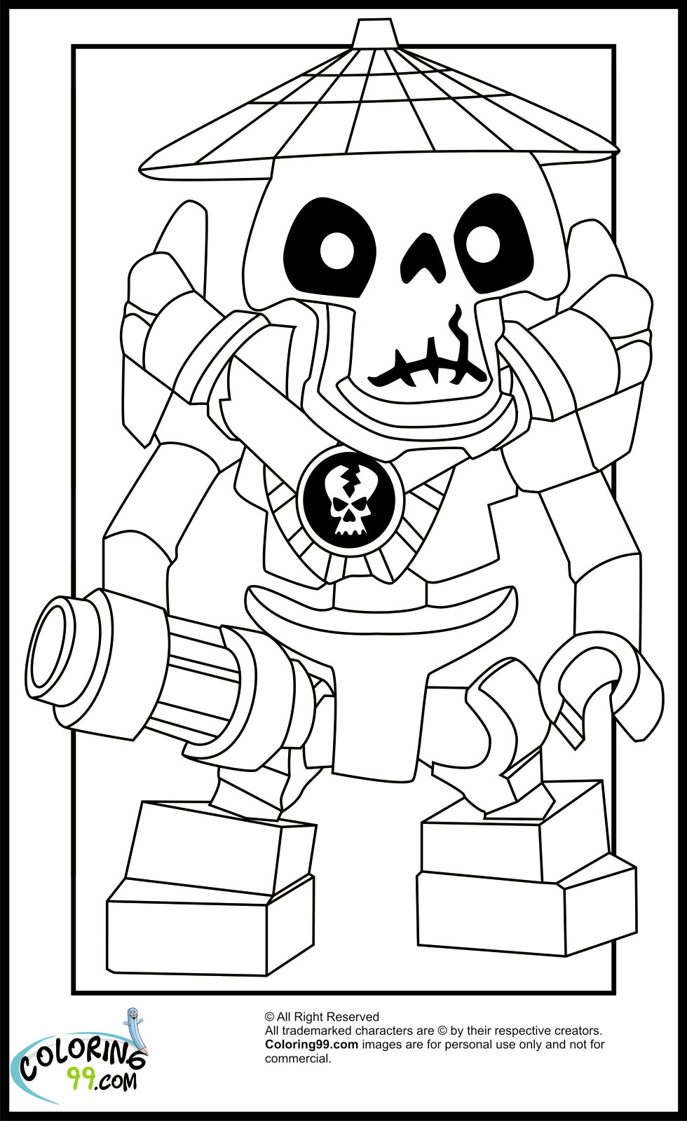 lego coloring pages ninjago nindroid-#35
