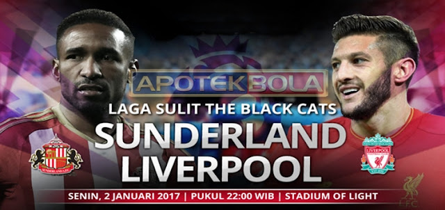 Prediksi Pertandingan Sunderland vs Liverpool 2 Januari 2017