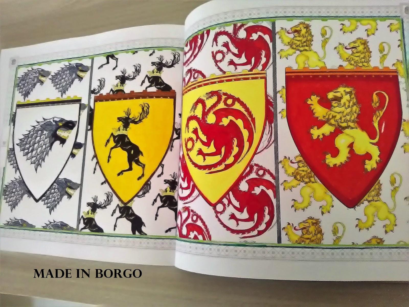 I Ho Usato Una Pagina Da Colorare Dal Coloring Book Del Trono Di Spade Per Colorarlo Gli Stabilo Pen 68