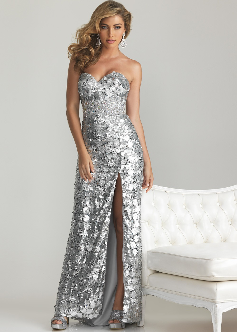 silver sequin inexpensive prom dresses gowns 2015 1