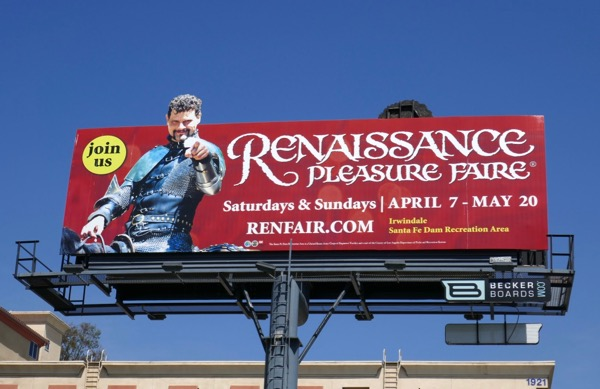 Renaissance Pleasure Faire 2018 knight billboard