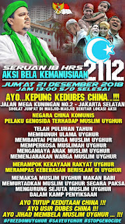 Seruan Habib Rizieq: Hadirilah Aksi 2112 Bela Muslim Uighur, Usir Dubes China