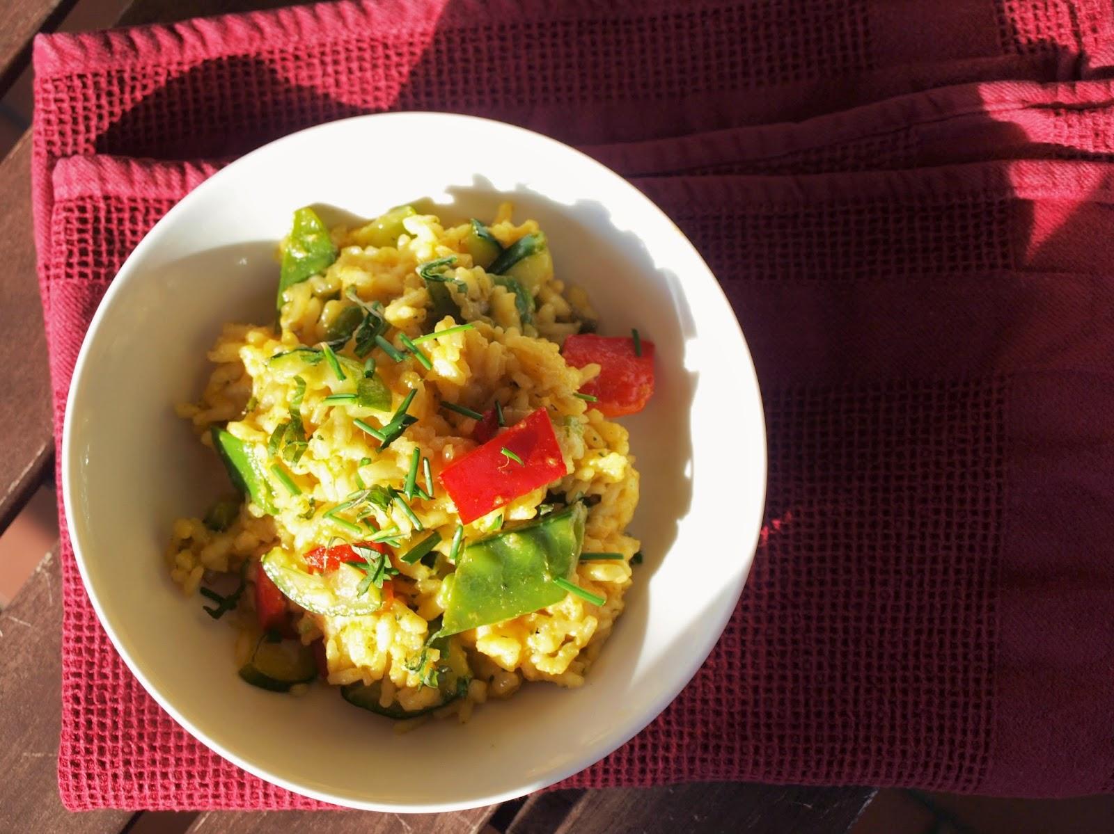 Vegetarisch Frühling Paella